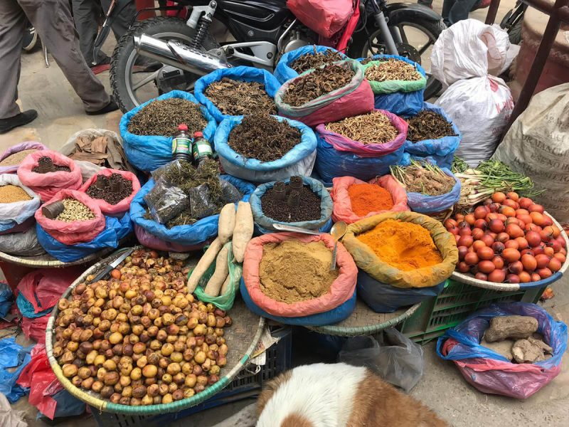 colorful nepalese spices