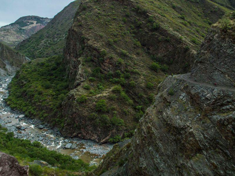 riding in Peru on mountain bike day trip
