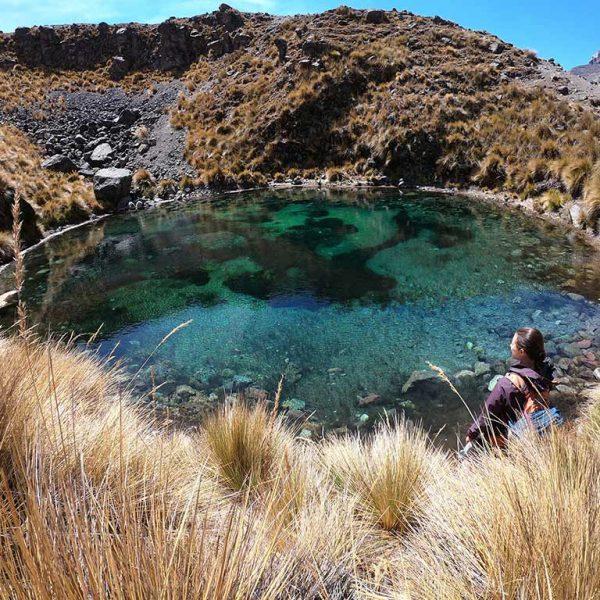 Green glacial lakes Ausangate