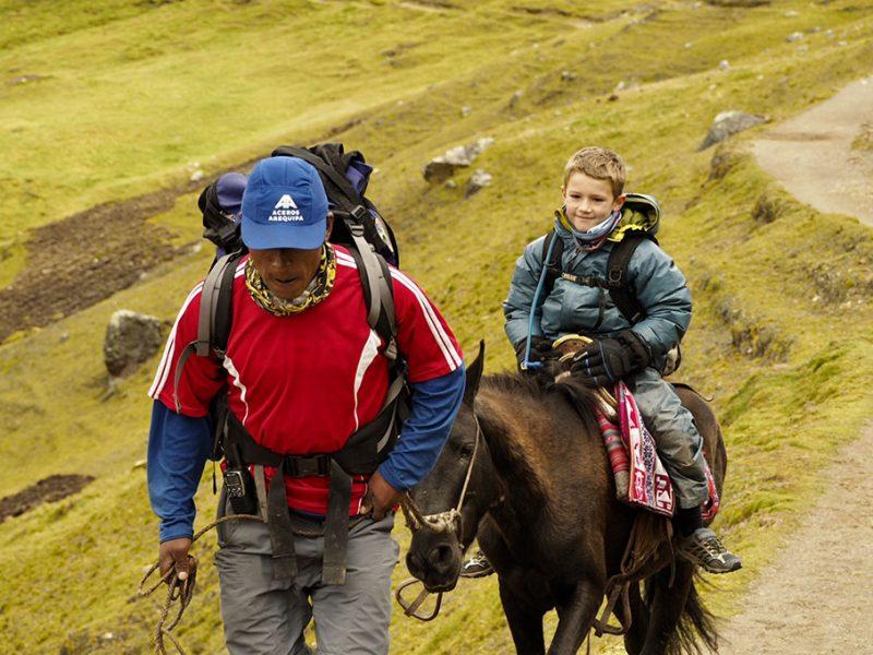 Horseback camping adventure