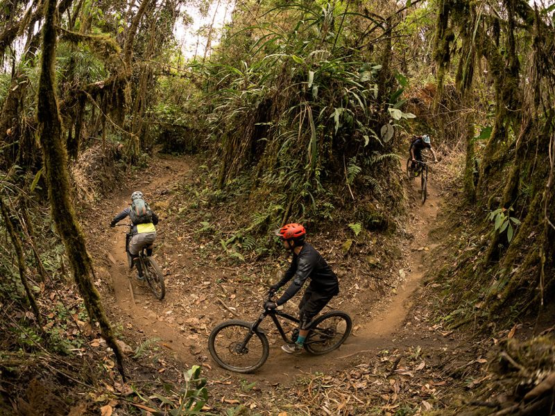 Fly down the Andes longest mountain bike trails.