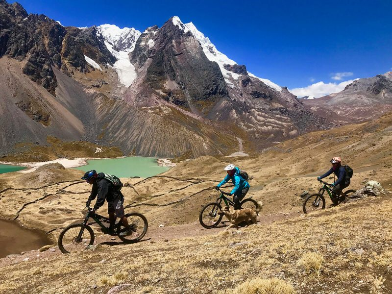 peru enduro mtb holiday with glacial lakes