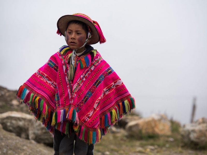 Peruvian boy Andes