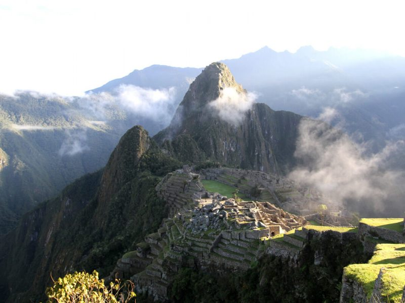 Huayna Picchu towers