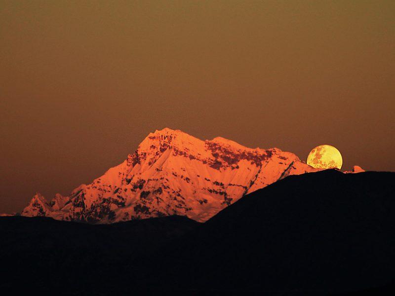 Ausangate Moonrise Cusco