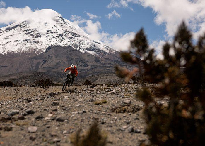 Freeriding Chimborazo Volcano