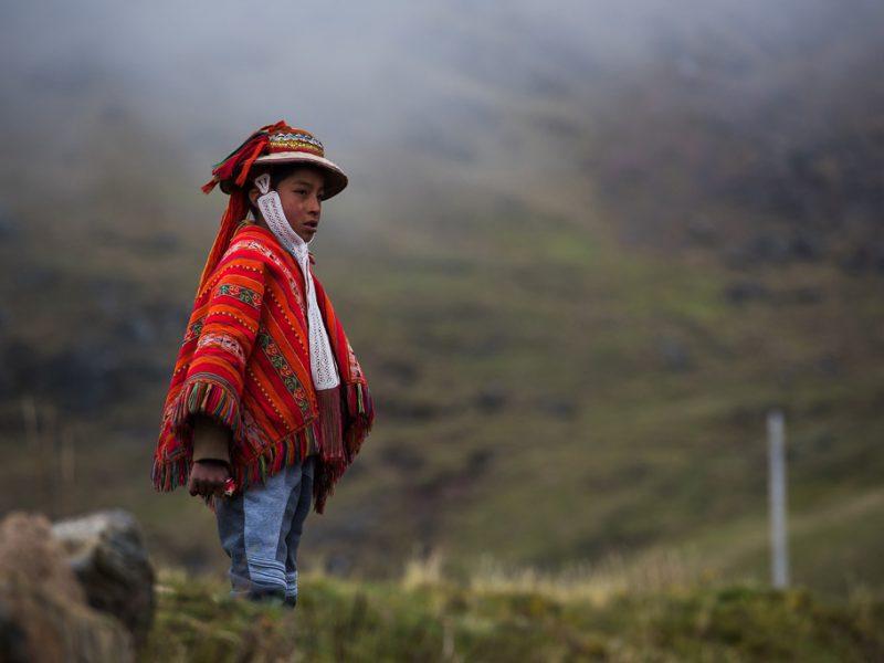 Peruvian poncho boy