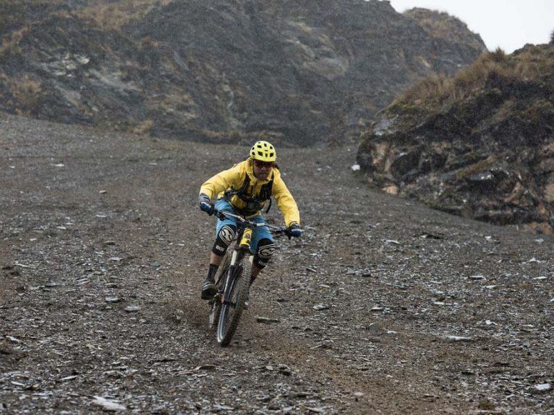 mountain biking scree peru