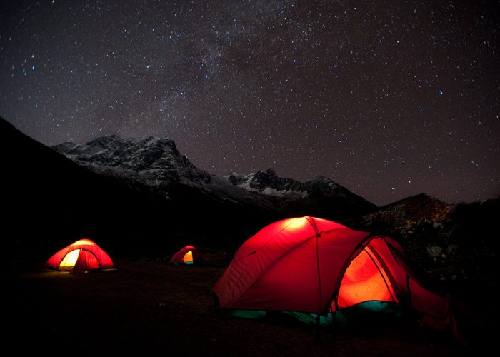 Camping under the stars in Nepal. Pic: Alex Treadway