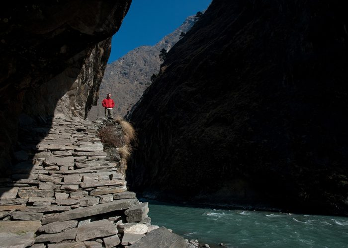 Hiking in Nepal. Pic: Alex Treadway