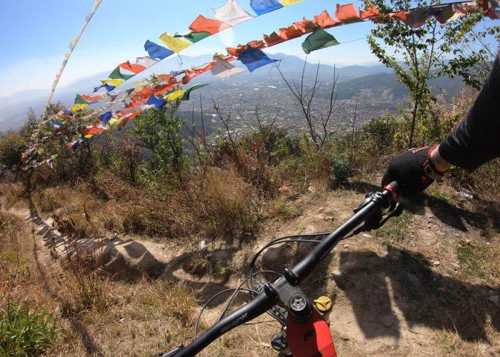 mountain biker in nepal
