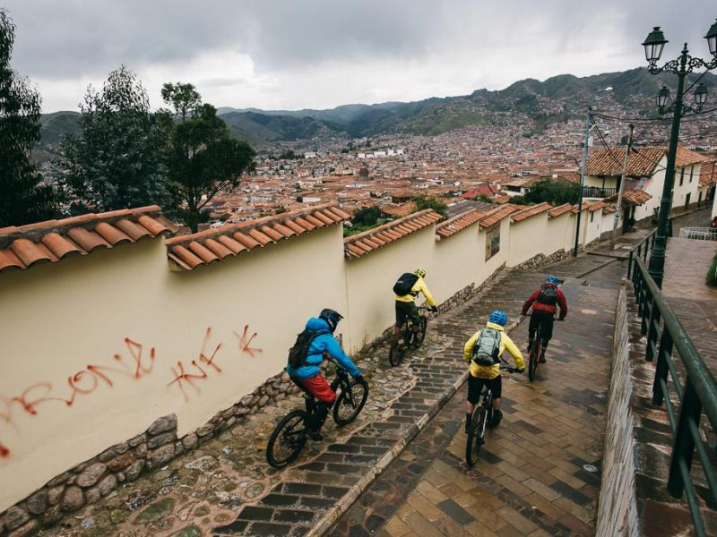 Urban riding Cusco